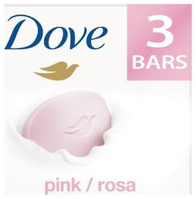 Dove Bathing Bar Soap - Pink Rosa Beauty 100 gm (Pack of 3)