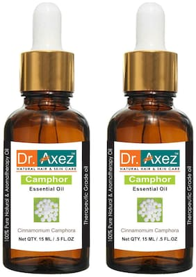 Dr. Axez Pure Natural Camphor Essential Oil (15 ml Pack of 2)