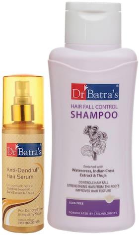 Dr Batra's Anti Dandruff Hair Serum and Hair Fall Control Shampoo - 500 ml