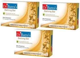 Dr Batra's Bathing Bar Enriched with Tea Tree,Tulsi Extract or Echinacea Extract 75gm (Pack of 3)