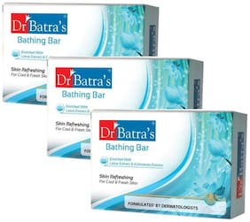 Dr Batra's Bathing Bar Enriched with Extract or Echinacea Extract 75gm (Pack of 3)