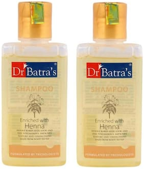 Dr. Batra'S Enriched Henna Normal Shampoo (200 ml)(Pack Of 2)