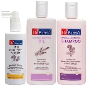 Dr Batra's Hair Vitalizing Serum 125 ml,Hairfall Control Shampoo- 200 ml and Hair Fall Control Oil- 200 ml