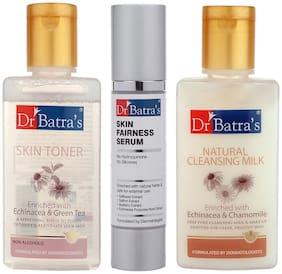 Dr Batra`S Skin Toner - 100 ml/Natural Cleansing Milk - 100 ml And Skin Fairness Serum - 50 g (Pack Of 3)