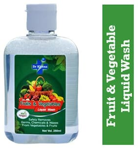 Dr Kleenz Fruit & Vegetable Liquid Wash/ Safely Remove Germs/ Chemicals & Waxes/ 100% vegan and safe 250ml