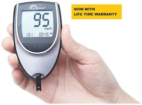 Dr. Morepen BG-03 WITH 25 TESTS STRIPS Glucometer (Black)
