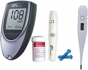Dr.Morepen Bg Glucometer With 50 Strips And Free Digital Thermometer