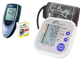 Dr. Morepen BG03 Glucometer With 50 Strips And Dr. Morepen Bp02 BP Monitor Combo