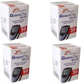 Dr. Morepen BG_03 200 Glucometer Strips (50's Pack of 4)