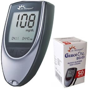 Dr. Morepen Bg03 Glucometer With 50 Test Strips