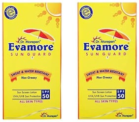 Dr. Morepen Evamore Sun Screen Lotion SPF 50 PA++  100 ml ( Pack Of 2 )