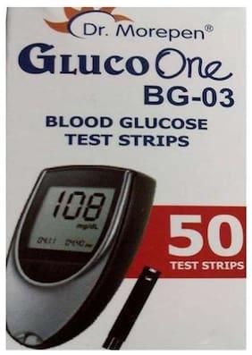 Dr. Morepen Gluco-One Bg-03 Blood Glucose 50 Test Strips Only / Glucometer Test strips / Sugar Test Strips