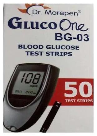 Dr. Morepen Gluco-One Bg-03 Blood Glucose Glucometer Sugar Test Strips 50 Strips Each (Pack Of 2)