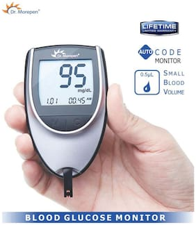 Dr. Morepen Gluco-One Bg-03 Blood Glucose Monitor / Glucometer/Sugar Machine/Sugar Test Machine/Glucose/Gluco meter