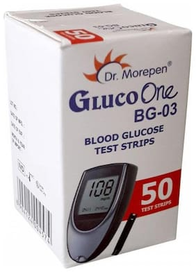 Dr. Morepen GLUCO-ONE BG-03 BLOOD GLUCOSE 50 TEST STRIPS ONLY