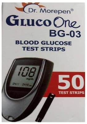 Dr. Morepen Gluco-One Bg-03 Blood Glucose 50 Test Strips Only / Glucometer Test strips / Sugar Test Strips