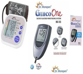 Dr. Morepen Glucometer And Bp02 (Pack of 2)/Sugar Machine/Sugar Test Machine/Glucose/Gluco meter