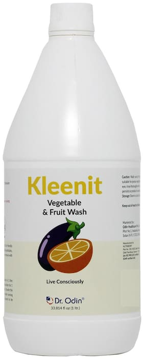 Dr. Odin Kleenit Natural Fruit & Vegetable Wash | Sanitize and Disinfect your Fruits & Vegetables I Removes Germs & Pesticides | Made with Food Grade Ingredients |Fruits & Vegetable Cleaner- 1 L