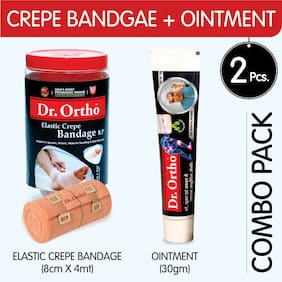 Dr Ortho (Crepe Bandage 8Cm x 4Mt. + Ointment 30 g) Pain Relief Combo