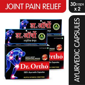 Dr Ortho Joint Pain Relief Capsules 30caps (Ayurvedic), Pack of 2