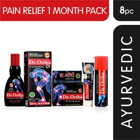 Dr Ortho Pain Relief 1 Month Combo Pack (Oil, Capsules, Spray, Ointment)