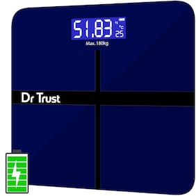 Dr Trust (USA) Electronic Executive Rechargeable Digital Weighing Scale for Human Body with Temperature Display 180kg
