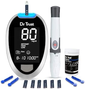 Dr Trust Fully Automatic Blood Sugar Testing Glucometer Machine with 60 Strips (PacK of 1)