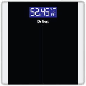 Dr Trust (USA) Balance Personal Digital Electronic Body Weight Machine for Human Body 180kg Capacity Weighing Scale- 513 (Black)