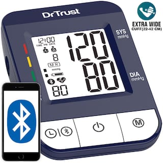 Dr Trust  (USA) Bluetooth i-check Connect-118 Digital Best Blood Pressure Monitoring Apparatus and Testing Machine with USB Port  Most Accurate BP Checking Instrument