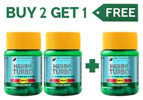 Dr. Vaidya's Herbo24Turbo Ayurvedic 30 Capsules for Male Sexual Wellness Buy 2 Get 1 (Pack Of 2)