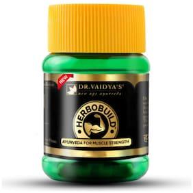 Dr Vaidya's Herbobuild |Ayurvedic Capsules for Muscle Gain |30 Capsules x Pack of 1