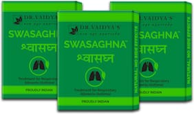 Dr. Vaidya's Swasaghna | Ayurvedic Medicine For Bronchial Asthma and Other Respiratory Ailments | 24 Pills X Pack of 3