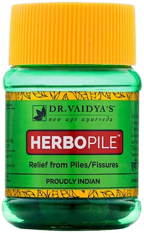 Dr. Vaidya's Herbopile | Ayurvedic Treatment For Fissures and Piles | 30 Pills x Pack of 2
