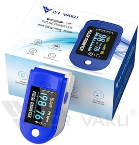 DR VAKU Swadesi Pulse Oximeter Fingertip,Blood Oxygen Saturation Monitor Fingertip,Blood Oxygen Meter Finger Oximeter Finger with Pulse,O2 Monitor Finger for Oxygen -Blue