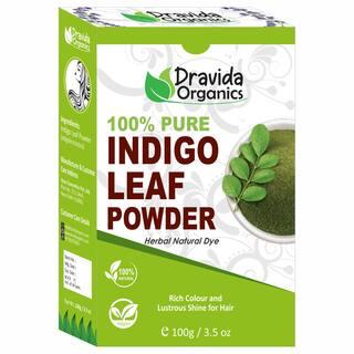 DRAVIDA ORGANICS 100% Pure Indigo Powder for Hair 100g (Pack Of 1)