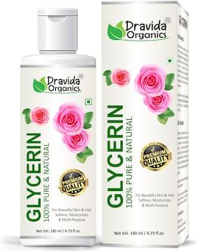 Dravida Organics 100% Pure & Natural Glycerine for Beauty and Skin Care 140 ml