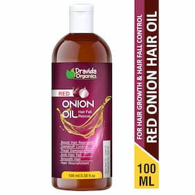 DRAVIDA ORGANICS Onion Hair Oil Nourishing Hair Fall Treatment With Real Onion Extract Intensive Hair Fall Dandruff Treatment Hair Oil (100 ml)