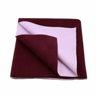 DREAM CARE Waterproof & Washable Instadry Extra Absorbent Baby Dry Sheet & Bed Protector - Maroon Pack of 1