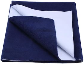 DREAM CARE Waterproof & Washable Instadry Extra Absorbent Baby Dry Sheet & Bed Protector - Navy Blue Pack of 1