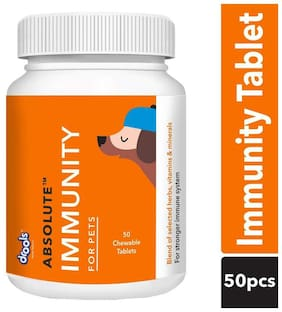 Drools Absolute Immunity Tablet Dog Supplement, 50 pcs