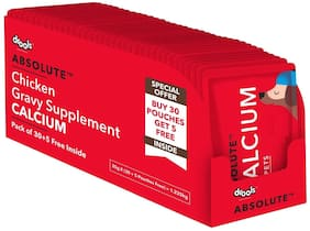 Drools Absolute Calcium Gravy Supplement for Dog Chicken 35 g Each (Buy 30 Get 5 Free) (Pack of 1)