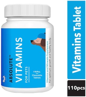 Drools Absolute Vitamin Tablet Dog Supplement 110 Tablets