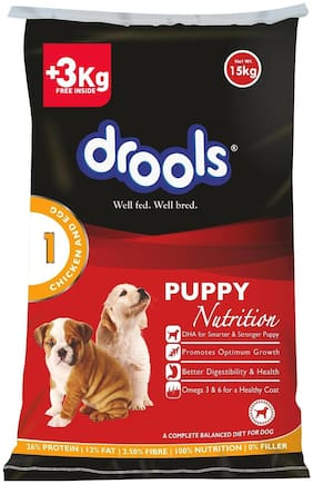 Drools Chicken And Egg Puppy Dog Food 15 kg - 3 kg Extra Free Inside