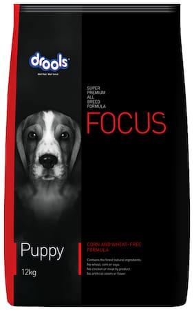 Drools Focus Puppy Super Premium Dry Dog Food 12 kg (+Extra 1 kg Free Inside)