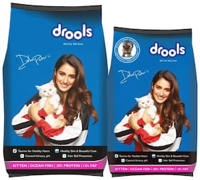 Drools Kitten (1 to 12 Months) Ocean Fish,Dry Cat Food,3 kg Extra +1.2 kg Free)