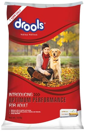 Drools Optimum Performance Adult Dry Dog Food, 10 kg