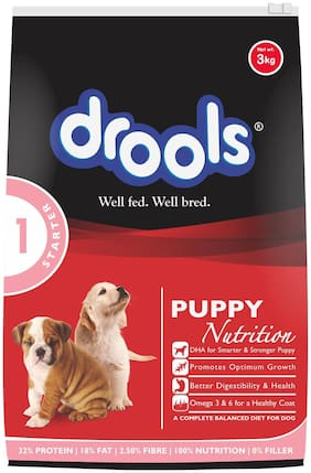 Drools Puppy Starter Dry Dog Food, 3 kg