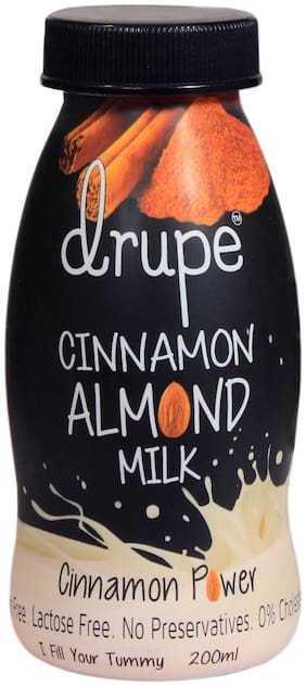 Drupe Almond Milk with Cinnamon Lactose Free 200 ml (Pack of 6)