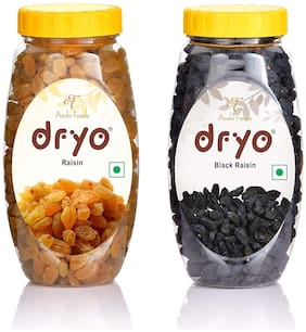 Dryo Dry Fruit Combo (Raisin 250g + Black Raisin 250g)