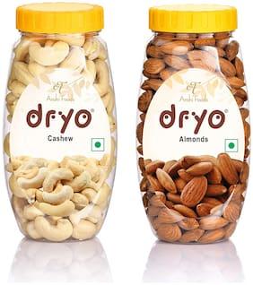 Dryo Dry Fruit Combo (Almond 250g + Cashew 220g)
